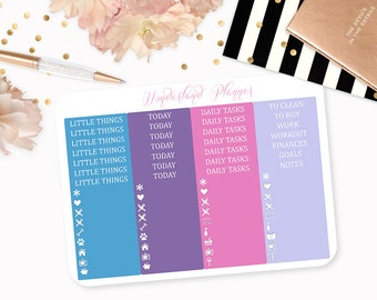 Watercolour Mermaid - Sea Life Themed Planner Stickers // Headers + Icons // Perfect for Erin Condren Vertical Life Planner