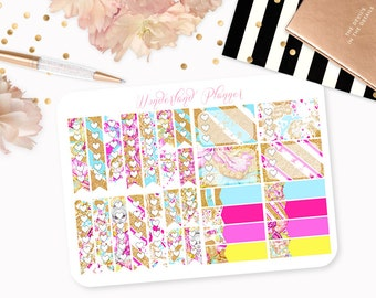 The Glitterati - Neon Glitter Themed Planner Stickers // Checklists // Perfect for Erin Condren Vertical Life Planner