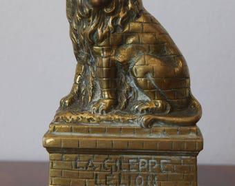 Vintage Antique Bronze Lion La Gileppe Le Lion