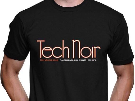 Terminator tech noir t shirt cyberdyne systems skynet for Film noir t shirts