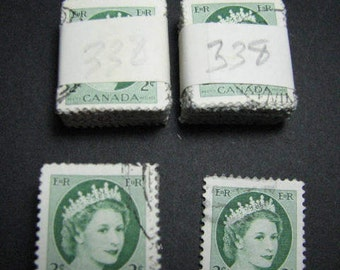 Three hundred 1954 two cent Canadian postage stamps
