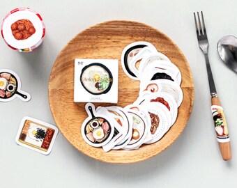 Eats Sticker Set - 45 pcs, Breakfast, Lunch, Dinner, Sushi