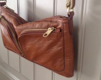 Purse, small handbag, carmel color, tan, vintage, purse, Holster