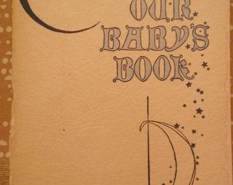 Vintage 1920s Baby Book