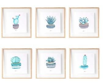 Cactus and Succulents : Cactus print, summer print, cactus wall art, cactus art print, cacti art, succulents and acti, succulent print.
