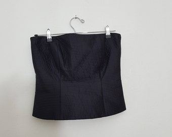 Silk Bustier / Quilted Bustier / Small / Ellen Tracy /