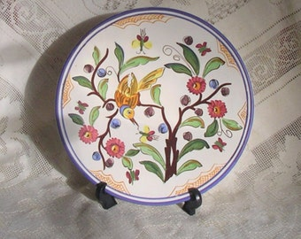 Plate Ceramic Hand Painted Decorative Wall Plaque