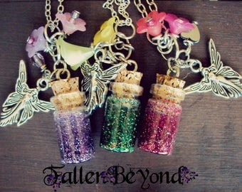 Fairy Pixie Dust in Resin Vial Necklaces