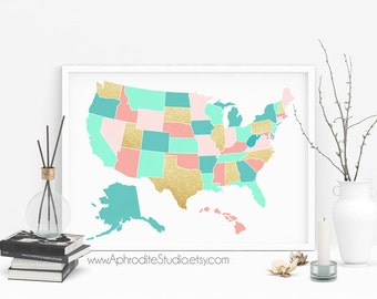 Usa Book Map Etsy - Alternative us map