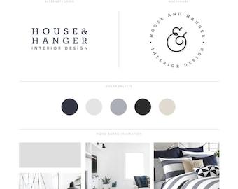 Branding Kit Design,  Logo Design Pack, Premade Branding Kit Blog, Branding Logo Set, Logo Pack, Branding Package, Minimal Branding Kit