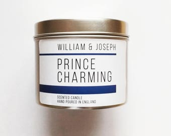 Prince Charming Scented Candle   Disney Candle, Cinderella, Fairy Tale, Disney gifts, Disney, Bookish Candles