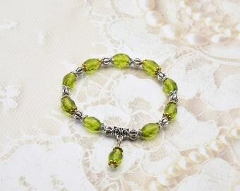 August Birthstone Tennis Bracelet
