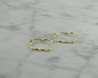 14k Heart Shaped Earrings (pierced)
