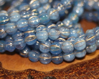 Czech Glass Beads, Melons 25 Beads