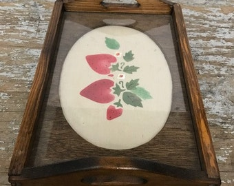 Awsome Vintage Wooden Decorative Tray Hand Made