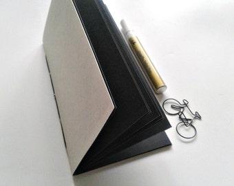 BLACK PAPER Traveler's Notebook Insert - Black Art Paper Insert - Black Strathmore Artagain Paper - Midori Refill - Coloured Paper - N220