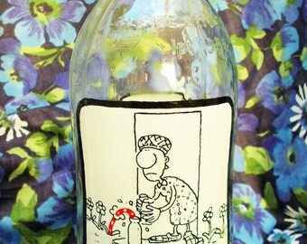 Retro Unigate 1 pint Milk Bottle - 'They're Back - Blooming Humphries' - 1980's