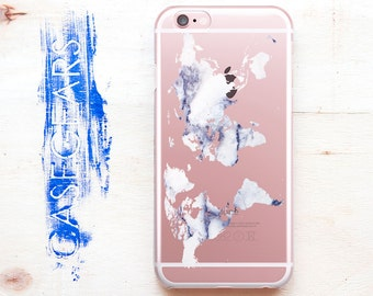 World Map Marble iPhone 5 Case Marble iPhone 6 S7 Case iPhone 5s Cover Case Se Phone S5 Case Marble Case CGCP0090