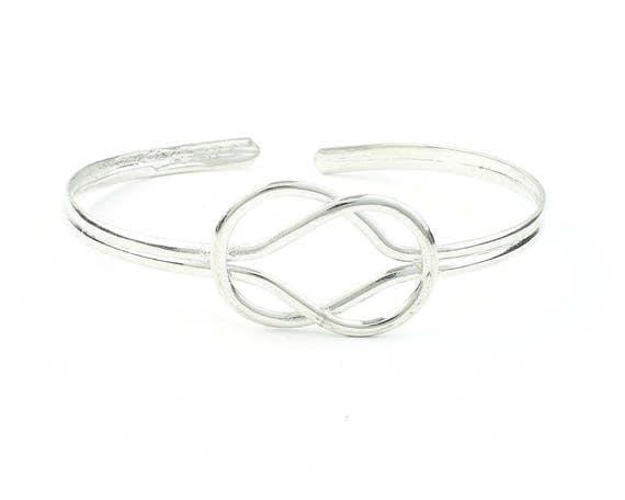 Knot Bracelet, Endless Knot Bangle, Lower Arm Cuff, Celtic Knot, Boho, Bohemian, Gypsy, Festival Jewelry, Stacking Bracelets