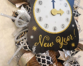 New year's wreath, New Years Swag, Wreath,NewYears,NewYear Wreath,New Year,NewYears Wreath,newyears wreath,Happy new year