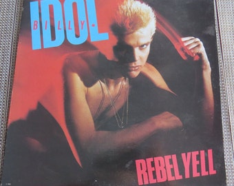 Vintage Billy Idol Rebel Yell LP excellent condition @!!
