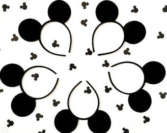Black Mickey Mouse Ears Boys Mickey Ears Plain Mickey Ears Disney Headband