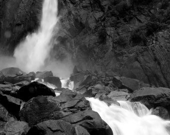 Up close and personal with Yosemite Falls, California (Photo Print)