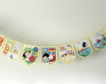 I Can Fly (A Little Golden Book) - Recycled Book Bunting - Nursery or Party Decoration