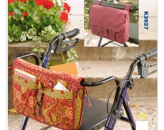 Sewing Pattern for Wheelchair/Walker Carryall and Carrier Bag, Kwik Sew # 3927, Wheelchair Accessory, Walker Accessory, Wheelchair Bag