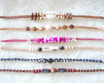 Choose your macrame friendship bracelet, Macrame waxed cord friendship bracelet