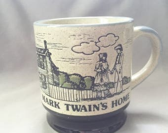 Mark Twain's Home Mug // Ceramic Coffee Mug // Mark Twain //  Hartford Connecticut // Connecticut State Decor (D3)