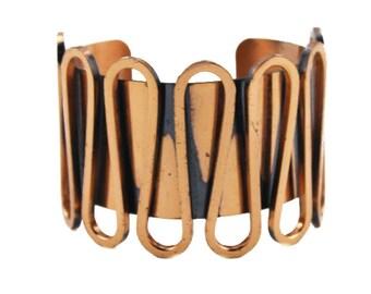 Vintage Renoir Copper Cuff Bracelet, Signed Renoir Cuff Bracelet, Renoir Copper Bracelet, Wide Copper Cuff Bracelet