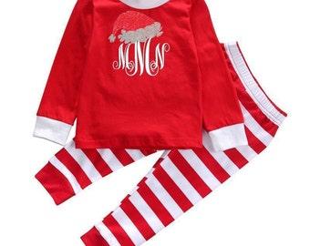 Santa pajamas | Etsy