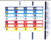 Happy Patriotic BBQ Labels Stickers Vertical Horizontal Erin Condren Life Planner ECLP Mambi Kawaii Cute Funny July Red White Fireworks