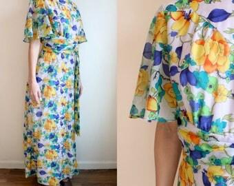Flutter Sleeve Floral Maxi