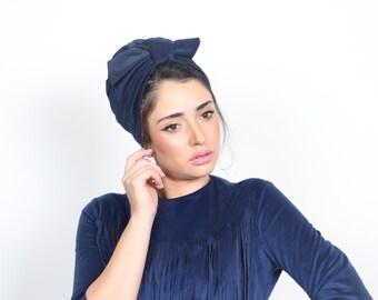 chemo turban, blue turban,turban hat, knot turban, cancer turban, cancer hat, headwear for chemo, hat chemotherapy