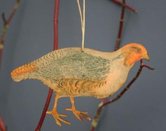Partridge - Wooden bird hanging