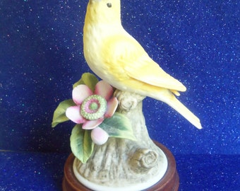 Canary Figurine - Yellow Canary - Andrea by Sadek - Made in Japan