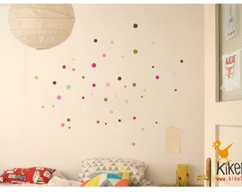 Wall decals points circles dots Jippie