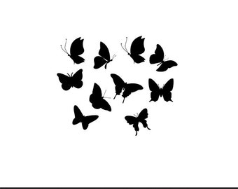 butterflies svg dxf jpeg png file stencil monogram frame silhouette cameo cricut clip art commercial use