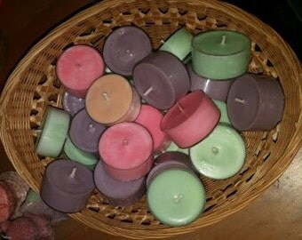 Scented Soy Tea Lights by the Dozen