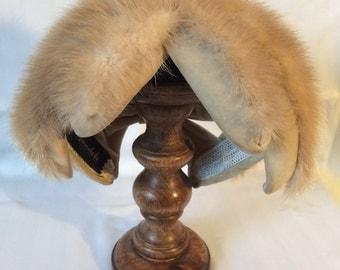 1970s mink and velvet hat