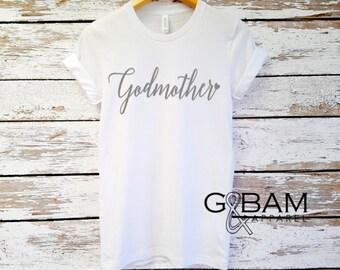 Godmother Shirt / Godmother SQUAD / Future God mother shirt / CUSTOMIZABLE Boyfriend tee /