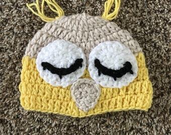 Owl hat toddler, owl hat crochet, kids crochet hats, baby boy hat, baby hat, newborn hat, infant hat, little boy owl hat, crochet baby owl