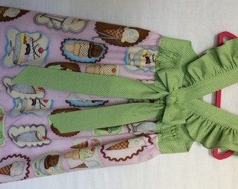 Ice Cream Dress, Baby Girls Dress, Girls Clothing, Toddler Dress, Childs Dress, Little Girls Dress, Party Dress, Flutter Sleeve Dress