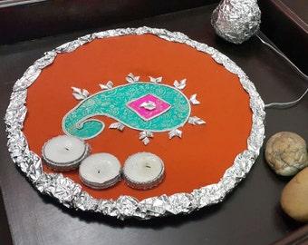 Henna Thaali,Mehndi Plate,Henna Decorations, Indian Wedding Decorations,Indian Pakistani Wedding,Mehndi Decor,Mehendi Decoration, Mehndi