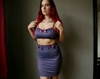 Purple mermaid stretch mini skirt/ Violet mermaid lolita skirt / Valentines Gift / Gift for her