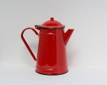 Enamelled coffeepot