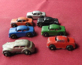 Barclay Die Cast Metal Cars - Die-cast Cars - 1950's Toy Cars - Brightly Colored Toys
