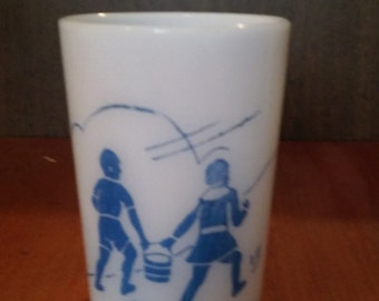 Vintage Milkglass Jack &  Jill cup probably 1950's